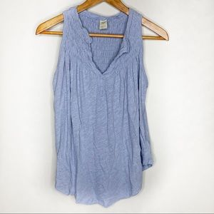 Free People We The Free Blue Tank Top Blouse Top S